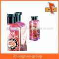 Cleaning products bottle shrink wrap sleeves with custom print