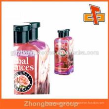 Produtos de limpeza garrafa shrink wrap mangas com impressão personalizada