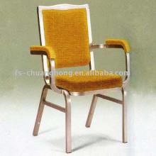 Золото желтый ткань стул отель с комфортабельными оружия (МК-Д114)