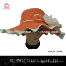 Ladies big floppy hats orange color floppy hat
