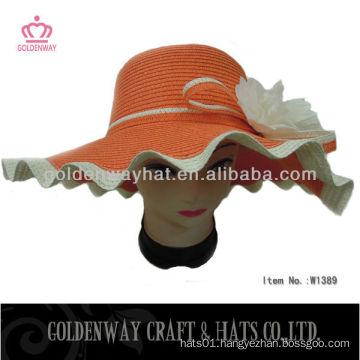 Ladies big floppy hats orange color floppy hat