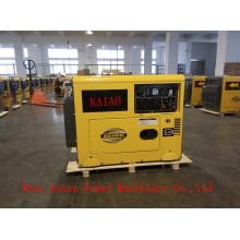 AC monophasé 50Hz / 5.5kw Key Start silencieux générateur diesel design pour l'Afrique du Sud Utilisation