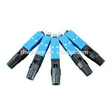 SC волоконно-оптический быстрый разъем, синий SC / UPC быстрый разъем, волоконно-оптический быстрый разъем