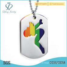 Pendente lésbica dos amantes do orgulho, jóia lésbica de prata do arco-íris