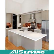Mobília UV dos armários de cozinha com ilha (AIS-K331)