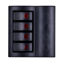 Marine Waterproof Wippschalter Panel mit rotem Licht
