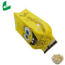 Печать индивидуального жиронепроницаемого логотипа, упаковочного бумажного мешка для попкорна