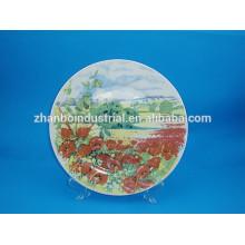 Fleurs décoration plaques en céramique plaques latérales en porcelaine