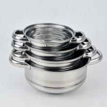 Aço inoxidável da alta qualidade, pote de cozinha