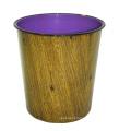 Desenho de madeira de plástico aberto Top Waste Bin para casa (B06-2012-4)