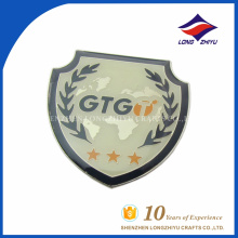 Logo imprimé logo personnalisé pour hommes, bouclier, épingle, fabriqué en Chine