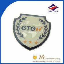 Printed logo custom men gifts shield lapel pin, made in China