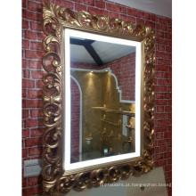 Espelho antigo leve do diodo emissor de luz para o banheiro do hotel e o Guestroom