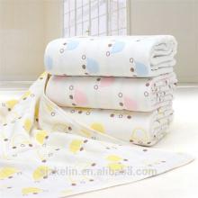 115 * 115 cm 6 capas de muselina de algodón de gasa bebé swaddle manta 115 * 115 cm 6 capas de gasa de algodón muselina swaddle manta