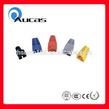 Red rj45 caucho pvc boquilla modular para cat5e cat6 Ian cable fabricado en China
