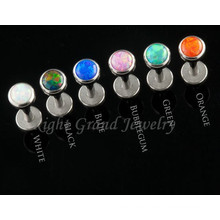 Trendiges Design 316L Chirurgenstahl Gewinde Opal Körperschmuck