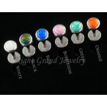 L'acier chirurgical 316L conception dernier cri fileté opale bijoux de corps