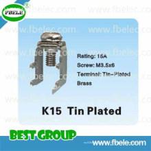 Piezas de Metal K15 Estaño Estampado / Bloque Terminal Eléctrico / Terminal de Alimentación Blo