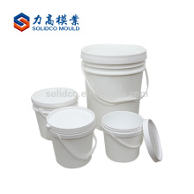 Cubo plástico de la pintura del moldeo por inyección del cubo profesional del fabricante de China con el molde del canalón