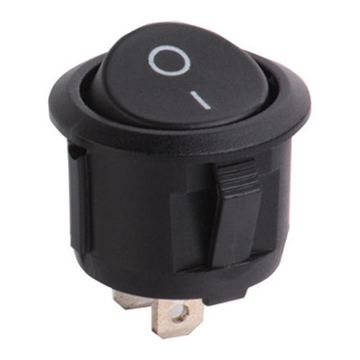 Pusingan Rocker Switch 2 Pin