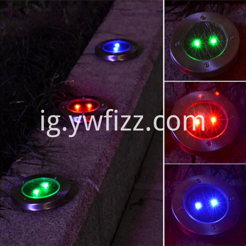 Embedded outdoor solar lawn lamp
