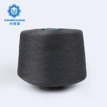 Hot sell 100D Full dull Gray dyed ring 100% spun polyester yarn for knitting