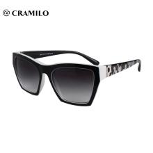 2018 nuevas gafas de sol cuadradas negras para mujer.