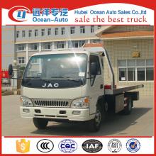 Venta caliente JAC 4ton wrecker, camiones de remolque para la venta