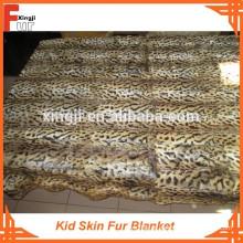 Leopardo Impresso Kid Skin Cobertor De Pele