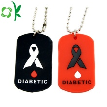 Debossed-fill Dog Tag Silicone Custom QR-kod Pet Tag