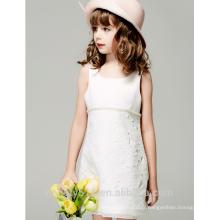 Robe de fille de fleur pour fille grosse sans robe filles image robes de bébé sans manches ED767