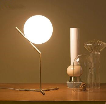 Modern Electric Glass Desk Reading Lamps