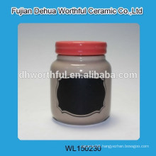 Promotion ceramic storage tank with red cover