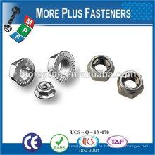 Taiwán Acero inoxidable 18-8 Cobre Latón Aluminio Latón Nylon Tuerca Tuerca hexagonal Tuercas rápidas