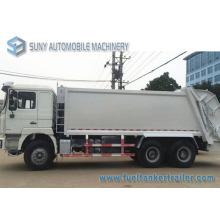 20m3 6 * 4 Shacman 290HP 3axles Camión de basura compacto