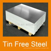 Impresso aço livre de TFS ECCS Tin para metal de anúncio de tampão de coroa pode produção