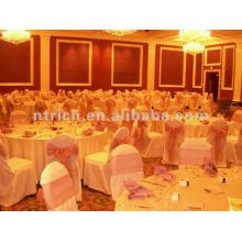 couverture de chaise, housse de fauteuil polyester CTV593, tissu épais 200GSM, durable et facile de mariage lavable