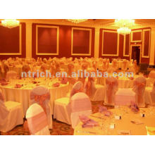 wedding chair cover,CTV593 polyester chair cover,200GSM thick fabric,durable and easy washable
