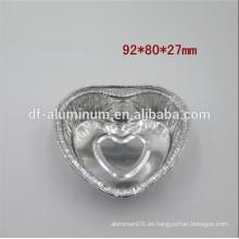 Forma desechable del corazón de la bandeja del papel de aluminio