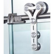 Fabricación decorativa hecha de material de acero ducha corredera Hardware de la puerta de vidrio