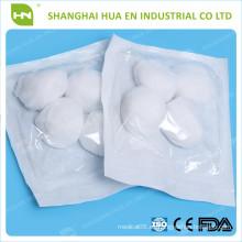 Hecho en China El algodón puro de la alta calidad el 100% esteriliza la bola de algodón
