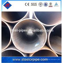 100 mm de diámetro a53 erw tubería de acero tubo de acero fluido