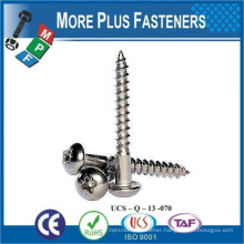 Made in Taiwan DIN 7996 BN 5946 Pozi Round Head Wood Screws Form Z Steel Case Hardened Zinc Plated