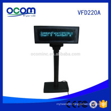 Factory Price Electronic 2 Lines VFD Display Pole Adjustable Customer Display for Supermarket POS System