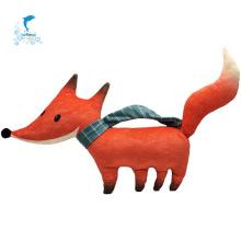 Фаршированная плюшевая игрушка лиса