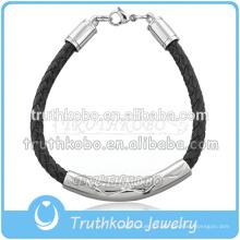 Pulseira de couro clássico dos homens mais novo personalizado Memorialize jóias com pulseira pingente de cremação