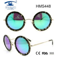 Runde Form handgefertigte Acetat Sonnenbrille (HMS448)