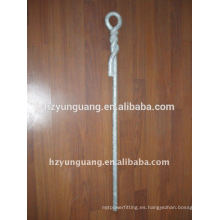 Hot-dip galvanized Steel Stay rod Power pole fitting pole line hardware utility pole assembly overhead line accessories