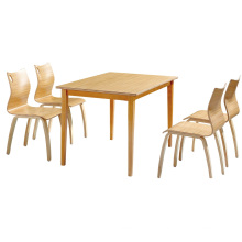 High End Quality Durable Guangzhou Solid Wood Canteen Dining Table