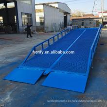 Venta de 6 toneladas de carga móvil de m 1,8 m rampa de patio de motos en venta